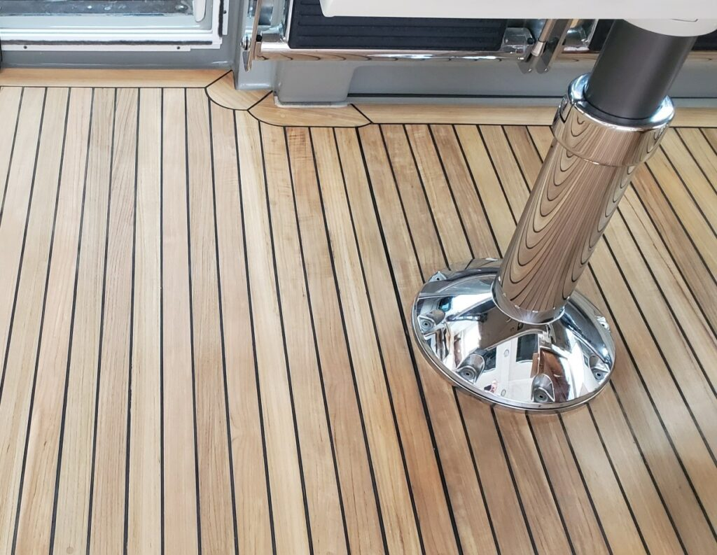 teak decking systems after sanding or sand out