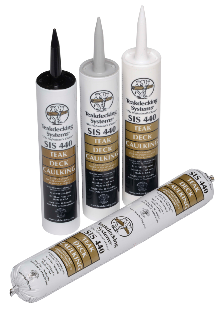SIS 440 Teak Deck Caulking in Cartridges & Foil Packaging